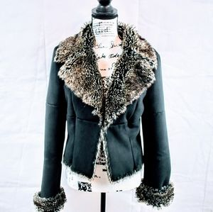 Express Faux Suede Fur Jacket